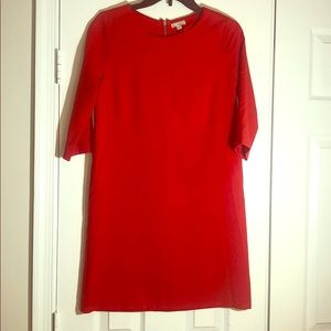 Red comfy work dress
